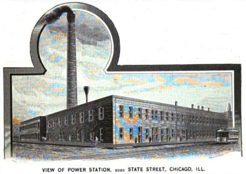 VIEW OF POWER STATION, 2020 STATE STREET, CHICAGO, ILL.