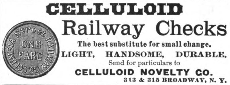 celluloid railway checks