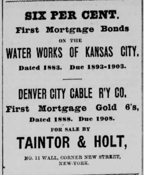Denver City Cable Bonds