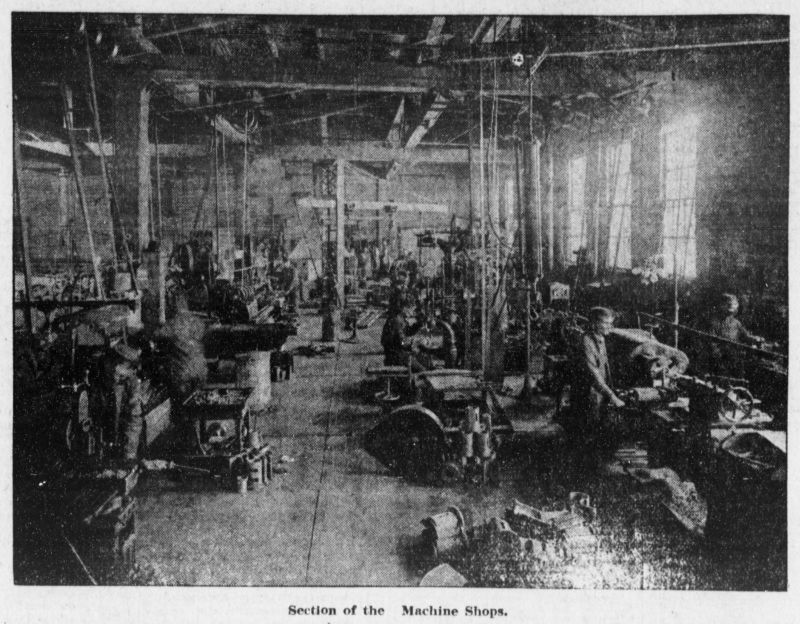 section of the machine shops