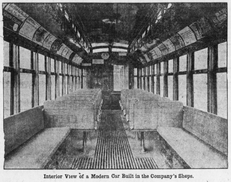 interior view of a modern car built in the company's shops