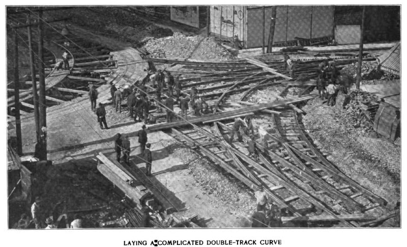 laying a complicated double-track curve