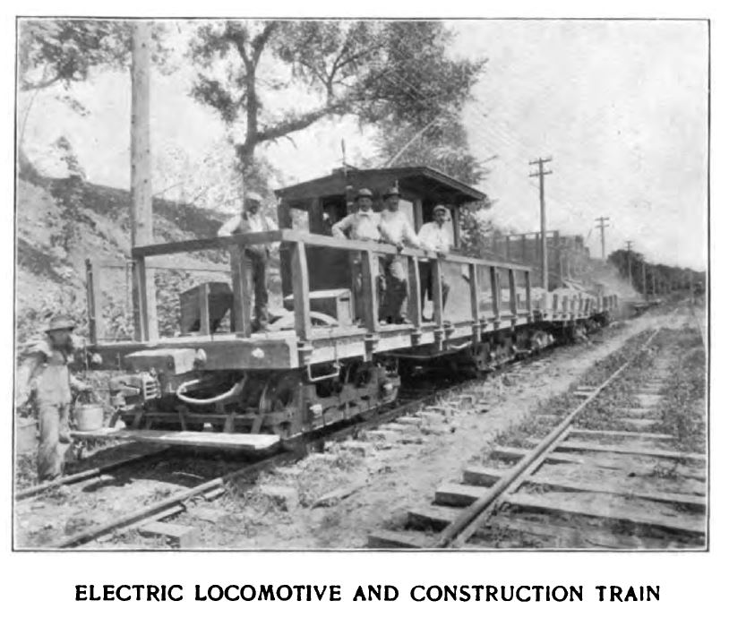 electric locomotive and train