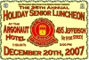 Senior luncheon poster